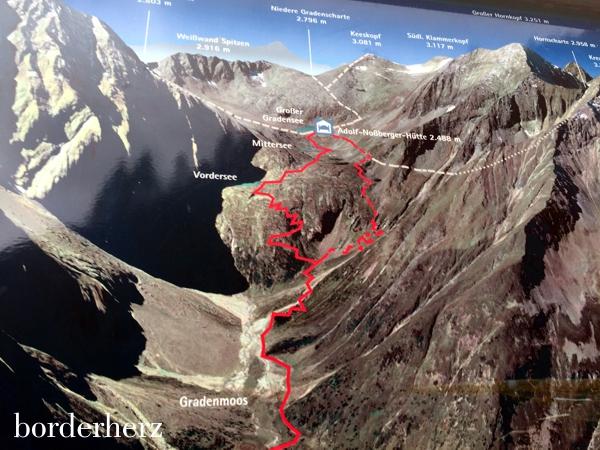 Ausschnitt aus der Wanderkarte des Nationalparks