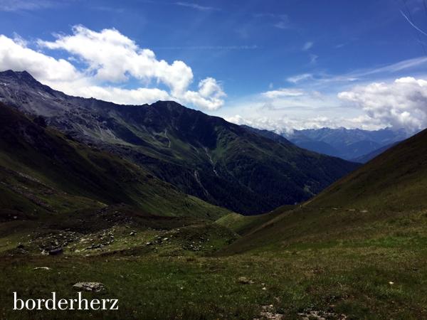 Panorama auf dem Weg zur Glorerhütte
