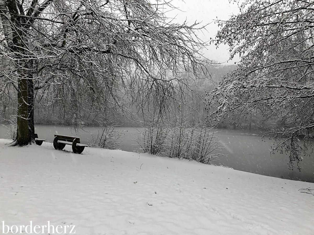 Revierpark Vonderort im Schnee