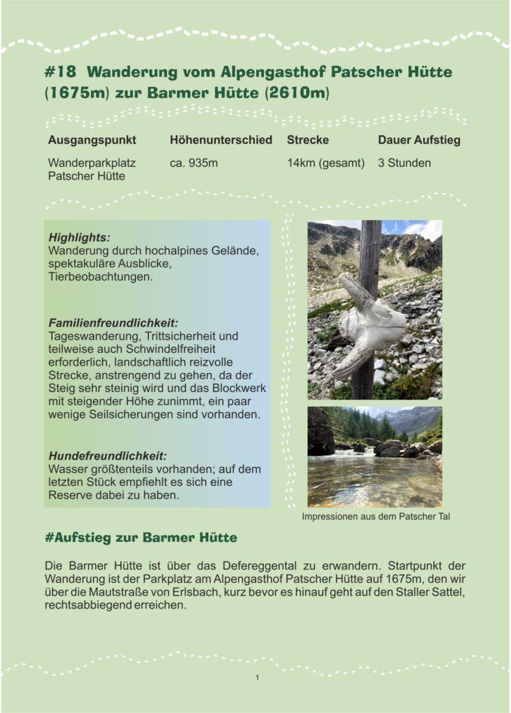 Osttirol wandern