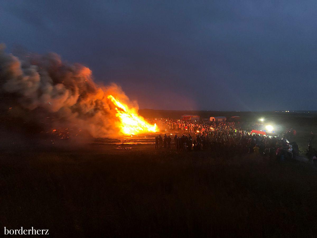 Biike brennen auf Sylt